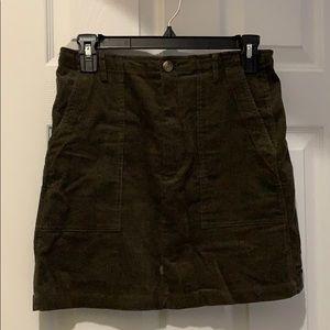 Very J corduroy mini skirt
